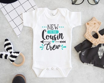 2100229e3 Cousin Crew Onesie® - New To The Cousin Crew Onesie® - Cute Cousin Crew Baby  Onesie® - Cousin Crew Boy - Cousin Crew Girl