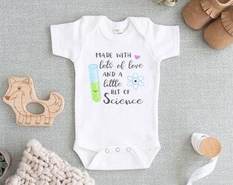 29074ca12 IVF Onesie® - Made with Love and Science Onesie® Baby - Cute In Vitro  Fertilization Baby Onesie®