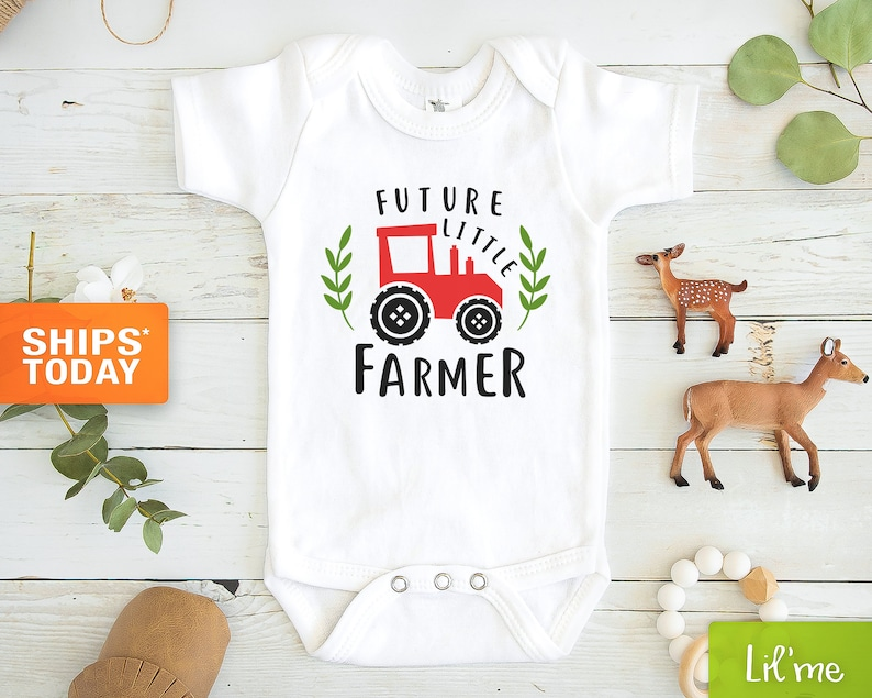 Future Farmer Baby Onesie®   Cute Tractor Onesie® Country image 0