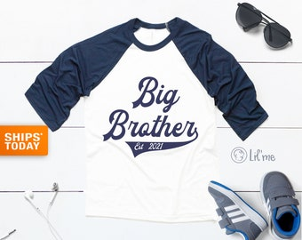 Big Brother Kids Shirt - New Big Brother Shirt - Cute Big Brother Raglan - Personalized Announcement