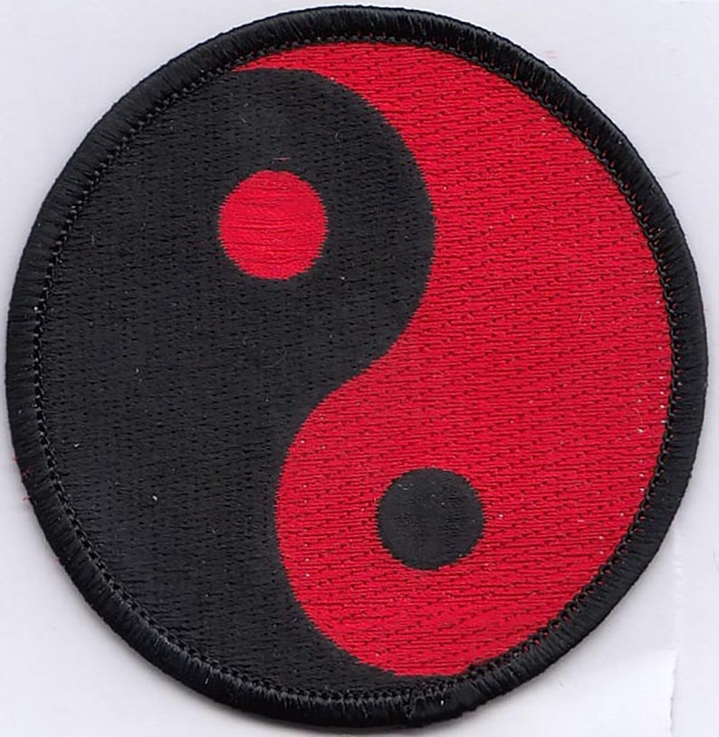 "INN-YANG Embroidered Patches 3/"" Diameter"