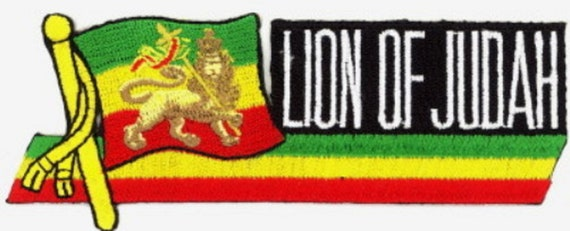 """V Embroidered Patches 3.9/""""x2.5/"""" iron-on GYR 3 Pcs RASTA Africa Map in"""