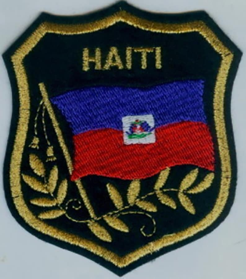 """KENYA Flag in shield Embroidered Patches 3.25/""""x2.75/"""""""