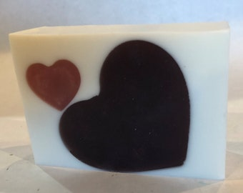 Berry Heart, Handmade Soap, Handcrafted Soap, Artisan Soap, High Top Soap, Natural Soap, Bar, Homemade Soap, Gifts, Graduation, Mother's Day