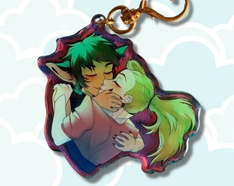She-Ra Catradora Lesbian Charm Keychain