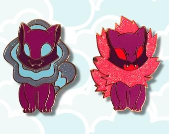 She-Ra Melog Cat Glitter Enamel Pin Set