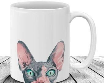 Sphynx cat mug | Etsy