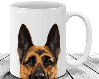 German Shepherd Mug Etsy