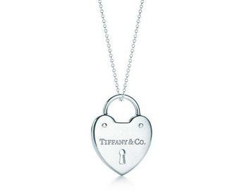 7e94dbb53 Authentic Tiffany and co. Heart lock pendant