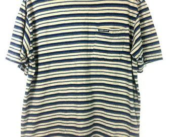 13132ccffe Vintage 90s Muddy Fox Stripes Pocket Tee Grunge Nirvana Kurt Cobain Style  Pop Cult Tee Size M