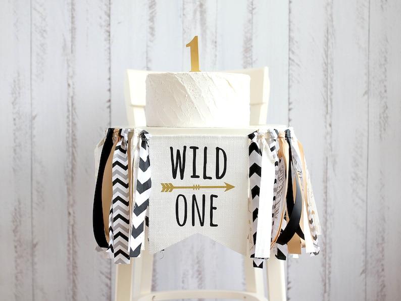 wild one high chair banner - 1st birthday