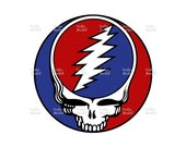Grateful dead  Ai, Eps, Pdf, Svg, Png, High Quality File, Shirt Design, Grateful dead Flag Design Active