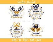 Merry Christmas Ai, Eps, Pdf, Svg, Png, High Quality File, Merry Christmas Design, Merry Christmas card, Happy New Year, Merry Christmas