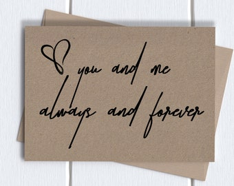 You And Me Always Etsy