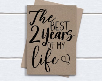 2nd anniversary Card | Two year anniversary card | The best 2 years of my life
