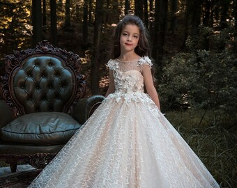 fc3b1561c6 Princess ball gown pageant flower girl dress
