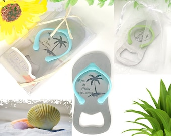 Personalized Flip Flop Bottle Openers engraved, Bottle Opener Wedding Favor, Custom Engraved Flip Flop for your Guests or for every Occasion
