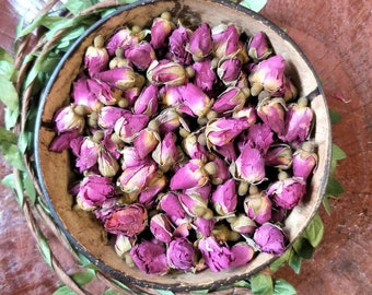 Dried Small Red Rose Buds | Plastic Free | Flower Confetti | Dried Herbs