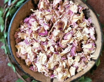Dried Rose Petals | Pink Rose Petals | Plastic Free | Flower Confetti | Dried Herbs
