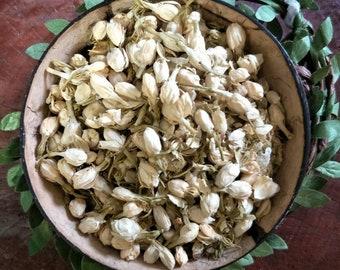 Dried Jasmine Flower Buds | White Jasmine Buds | Organic Jasmine Tea | Plastic Free | Flower Confetti