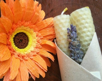Pure Natural Beeswax Candles |  Beeswax Rolled Candle | Beeswax Dinner Candles