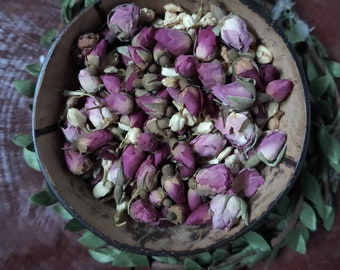 Dried Flower Buds | Red Rose Buds | Jasmine Buds | Plastic Free | Flower Confetti |Nature Play | Sensory Play