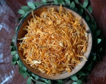 Dried Calendula petals | certified organic | zero waste  | plastic free