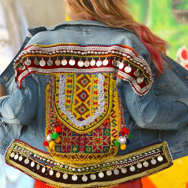 Vintage patches for jackets,Sew On Patch Back Patch Embroidered Patch,Appliques Hand Embroidery Vintage Tribal Neck Yoke Sewing Crafts