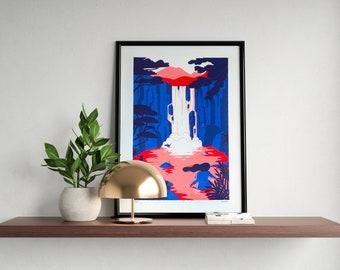 The waterfall - Émilie NICOLAS // Screen printing
