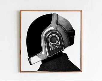 DAFT PUNK - 2/3 Epilogue Guy-Manuel - Clara DELAHAYE // Screenprint