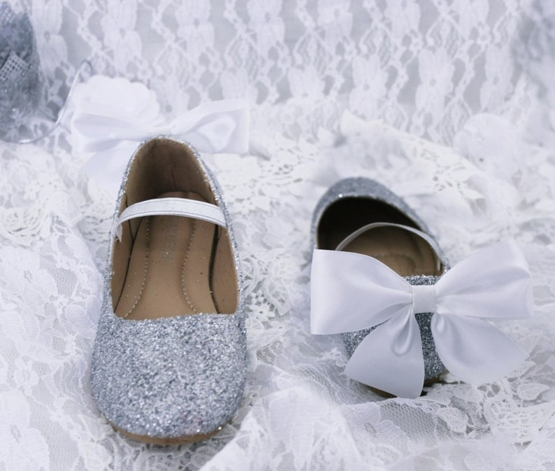 Girls Glitter Shoes Flower Girl Shoes