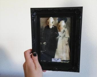 c2072fc48da Cadre photo crâne chauve-souris taxidermie victorien gothique marié cadre  sorcière wicca pagan tête de mort idée décoration baroque vintage