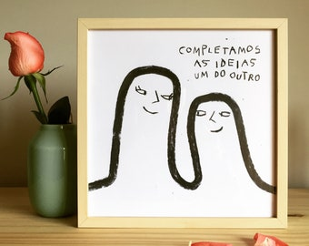 love illustration, love gift, gift ideas, weeding gift, gift for a boyfriend, gift for a girlfriend