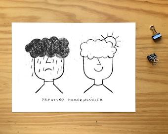 Humor prevision, Mood illustration, rain, sun