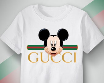 732a9440 Mickey Mouse Gucci Logo T shirt, Gucci feat Mickey Mouse inspired t-shirt,  Cool Gucci Disney t shirt design