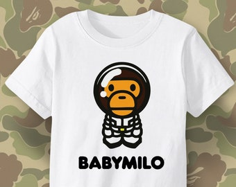 37eb4351 CUTE Baby MILO kids t shirt, BAPE for Kids, Bathing Ape for little children,  Cool stylish gift for little boys and girls,toddlers and babies