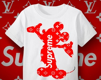 eccfb8013d3f Supreme Louis Vuitton Mickey Mouse kids t shirt