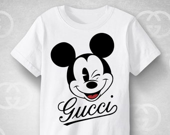 06c84a7b RARE GUCCI Vintage Mickey Mouse shirt, Retro Gucci design shirt, trendy  urban fashion street apparel, premium children and adults clothing