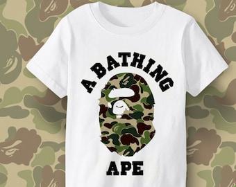 f3e1bda75a32 BAPE military pattern shirt