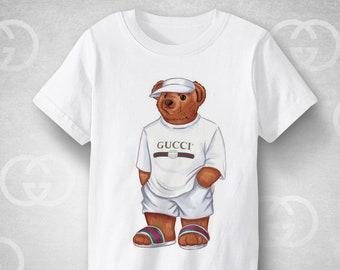 7d60064f CULT GUCCI MIKE bear illustration shirt, Vintage Gucci shirt, trendy urban  fashion street apparel, premium children and adults clothing
