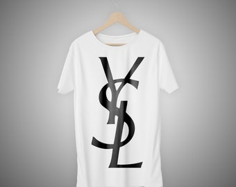 5ed8bea0e4a Stylish & Quality YSL T-shirt, YSL Paris Fashion for men and women, Yves  Saint Laurent classic logo t shirt, high quality fashion apparel