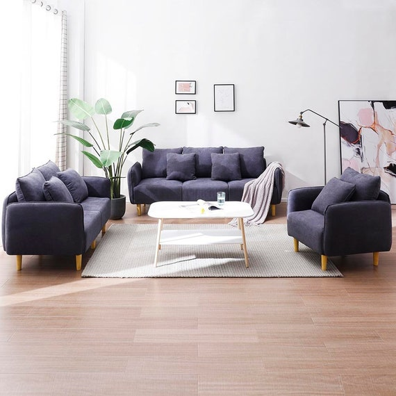 Modern Sofa set 1 Seater /2 Seaters/ 3 seaters Fabric Sofa Bed Living Room  Furniture BIG SALE 50% OFF!!