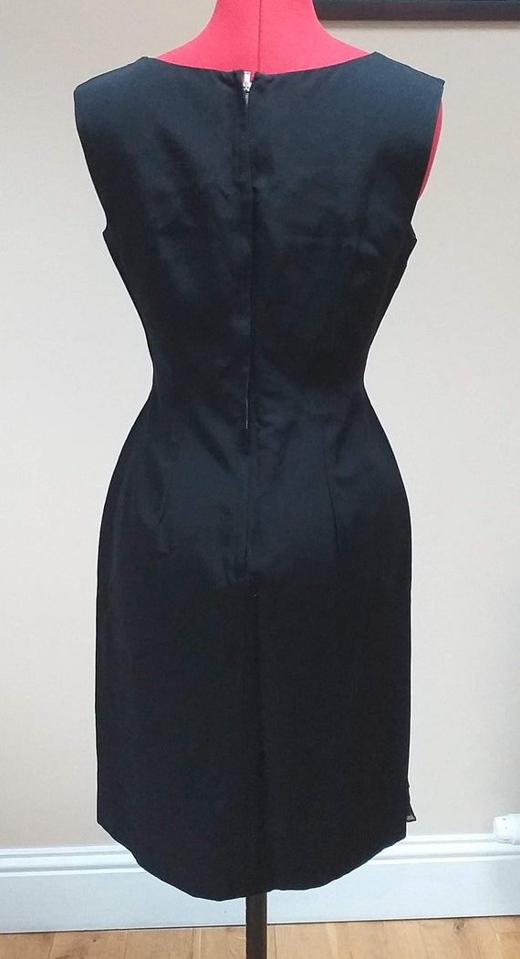 Vintage Cocktail Dress with Ruffle - image 4