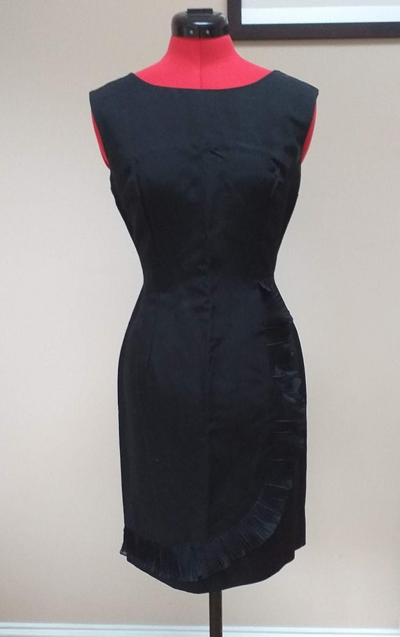 Vintage Cocktail Dress with Ruffle - image 1
