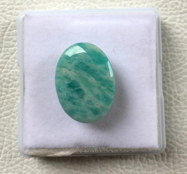 mm S96 16.15Cts Top Rare Amazonite Gemstone Natural Amazonite Cabochons Top Quality Amazonite Loose stone Semi Precious Amazonite 20X15X8