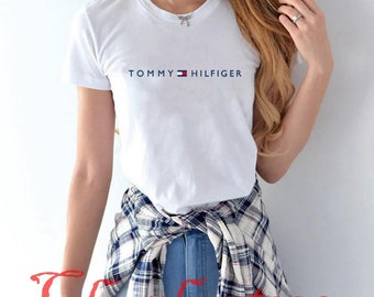 8de3a04a66e Tommy Hilfiger T Shirt New Shirt Vintage Gift Luxury Famous Girl Women  T-Shirt Tee S-XL  2