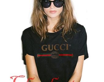 55469c0cd43 Gucci T Shirt New Shirt Vintage Gift Luxury Famous Girl Women T-Shirt Tee  S-XL
