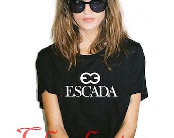 e613081df8010 Escada T Shirt New Shirt Vintage Gift Luxury Famous Girl Women T-Shirt Tee  S-XL