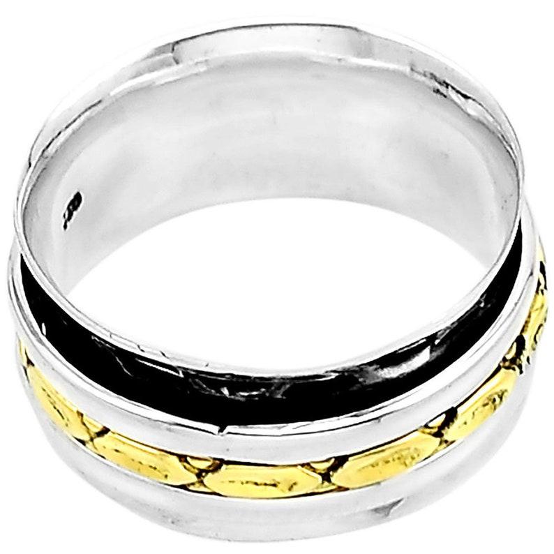 Meditation ring-Spinner ring-Sterling silver spinner ring-Sterling silver ring-Worry ring-Anxiety ring-Fidget ring-Silver spinner ring 1036