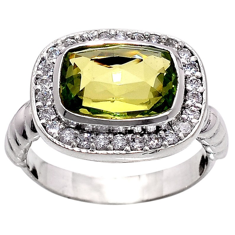 Faceted Colorchange Alex /& Cz 925 Sterling Silver Ring Jewelry DGR1073/_L Lab 8